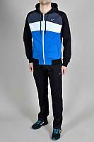 Зимний спортивный костюм , костюм на флисе Nike, черные рукава и штаны, синие с белым туловище, с3107