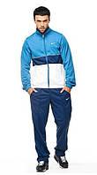 Зимний спортивный костюм, костюм на флисе Nike, синий верх, темно-синий низ, с3103