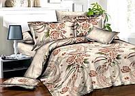 Комплект постельного белья полуторный, ранфорс 100% хлопок. Постільна білизна. (арт.7928)