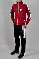 Зимний спортивный костюм , костюм на флисе Nike, красный с черными штанами, с3165