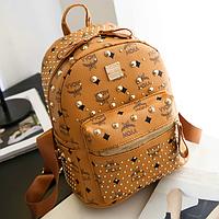 Модный мини рюкзак для мамы и дочки Большой рыжий