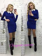 Приталенное платье с воротником в расцветках t-203107