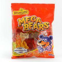 Жевательные конфеты Sugar Land Mega  Bears 200g