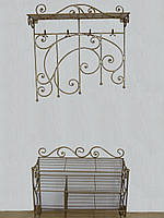 Кованый набор мебели в прихожую  - 021-2