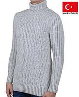 Практичный и теплый мужской свитер.Зимняя кофта