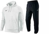 Зимний спортивный костюм , костюм на флисе Nike, белый верх, черный низ, кенгуру, с3331