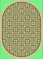 "Ковер ""циновка "" 1,2х1,7 зеленый"