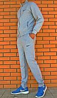 Зимний спортивный костюм , костюм на флисе найк, серый, с3348
