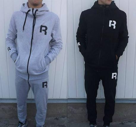 ff95fe72 Спортивный костюм Reebok, серый верх, черный низ, с3431: продажа ...