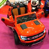 Детский двухместный электромобиль M 3579EBLR-7 оранжевый
