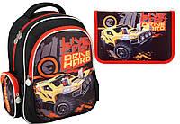 "Комплект. Рюкзак школьный Hot Wheels HW16-512S + пенал, ТМ ""Kite"""