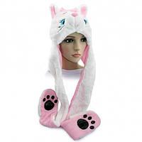 Шапка маска с лапками Кошка