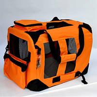 Переноска каркасная Lux XL (81.5*58.4*58.4 cm)  оранж