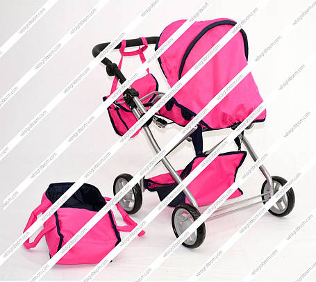 Коляска-трансформер для кукол Melogo 9379 с большими колесами для девочки на 2, 3, 4, 5, 6 лет, фото 2