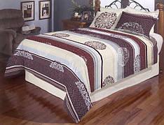 Разноцветная полоска полуторное постельное белье Gold