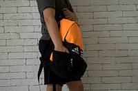 Рюкзак оранжевый с боковыми карманами, Adidas, Адидас, Р1169