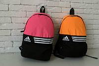 Рюкзак унисекс оранжевый, розовый Adidas, Адидас, Р1171