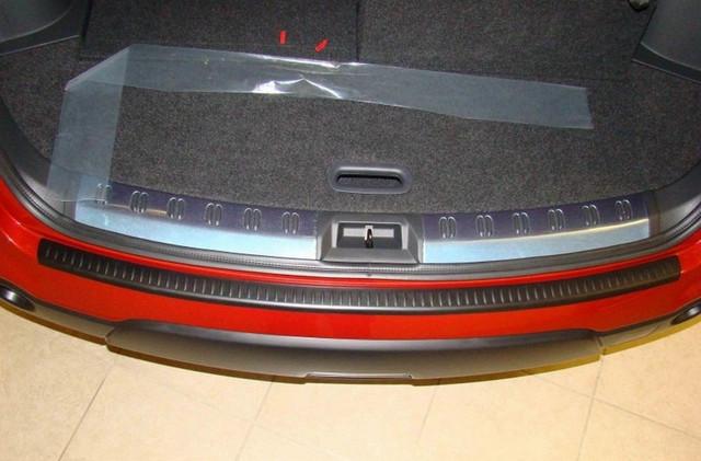Rear bumper protector Nissan Qashqai 2007-2013 N-09