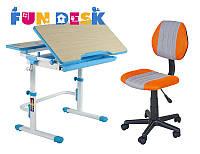 Парта FunDesk Lavoro L Blue+детское кресло LST2