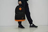 Рюкзак черно-оранжевый Nike, Найк, Р1351