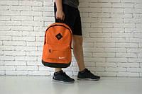 Рюкзак спортивный оранжевый Nike, Найк, Р1389