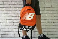 Рюкзак оранжевый верх черный низ, ораньжевый new balance,нью беленс, Р1436