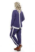 Женский спортивный костюм больших размеров, электрик звезды размер 52-58, фото 2