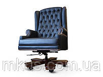 Кресло руководителя Лондон кожа черная