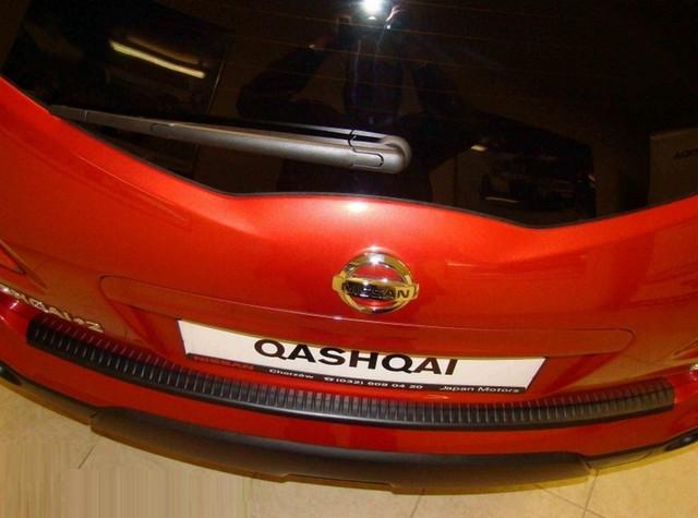 Rear bumper protector  Nissan Qashqai+2 2008-2013 N-08