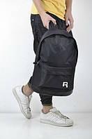 Рюкзак спортивный полностью черный, Рибок, black Reebok, Р1473