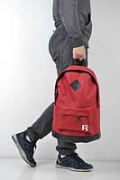 Рюкзак красный, логотип вышит Рибок, вышивка Reebok, Р1478