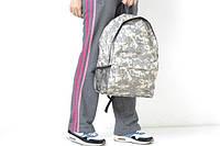 Рюкзак серый, камуфляжный военный стиль, Р1516