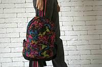 Рюкзак с бабочками, принт бабочки на рюкзаке, Р1529