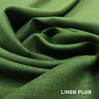 Оливковая льняная ткань, цвет 372