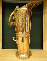 Зольник медный с латунью и деревянной ручкой, фото 1