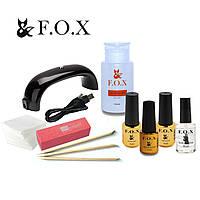 Стартовый набор для маникюра гель лаком FOX с Led лампой