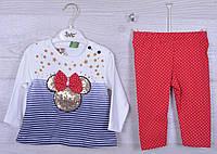 """Костюмчик детский """"Miki"""". 6-12-18 месяцев .Бело-синий+красный. Оптом."""