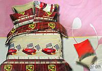 Комплект полуторного постельного белья в детскую для  мальчика Florida 5D Sateen DV-089 (Полуторный)