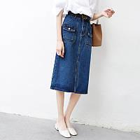 Удлиненная джинсовая юбка, фото 1