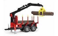 02252 Bruder Прицеп с краном для перевозки леса