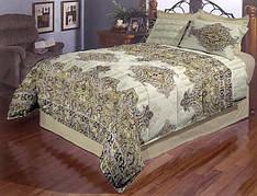 Орнамент полуторное постельное белье Gold