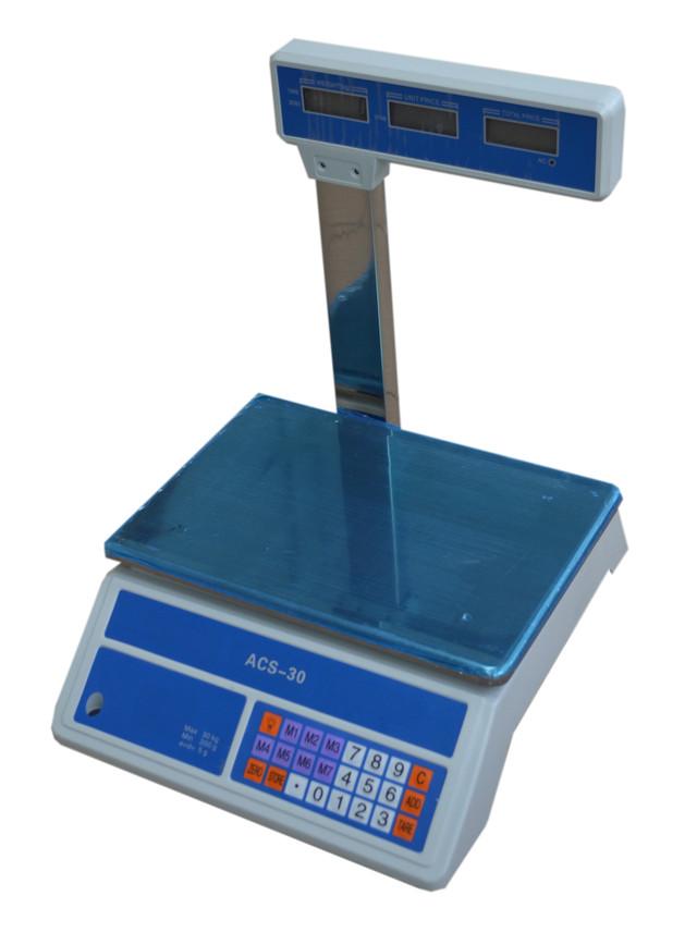 Весы торговые ACS-30-718 D, электронные весы, купить весы торговые