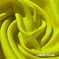 Желтая льняная ткань 100%  лен, цвет 163
