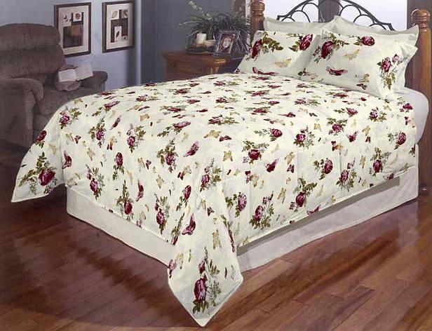 Розы и бабочки полуторное постельное белье Gold, фото 2