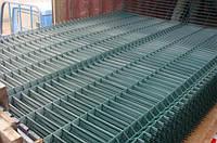 3Д заборы и ограждения секционные сварные в полимерном покрытии из металла в Днепропетровске 2.5 х 2,4м.