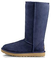 Зимние женские сапоги UGG Classic Tall (высокие угги угг австралия) синие