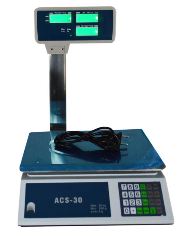 Торговые весы ACS-30 759 D, электронные весы, купить весы торговые