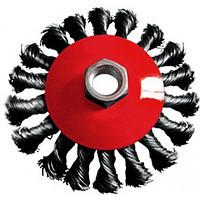 Щітка  дискова  115* 22,2  (пучки крученого дроту)