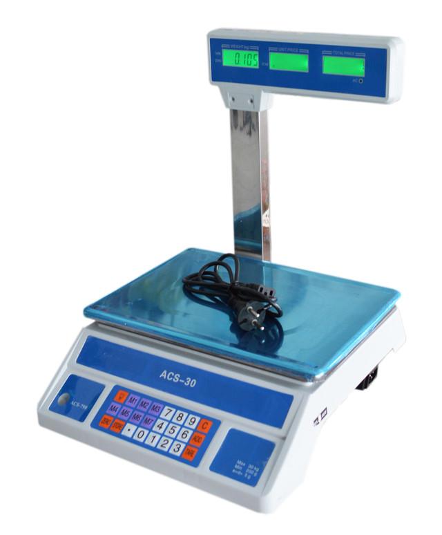 весы торговые ACS-798-30 кг, электронные весы, купить весы торговые