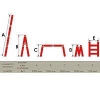 Лестница алюминиевая мультифункциональная трансформер Werk 4x3